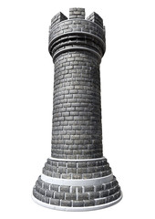 Brick Chess Castle Piece