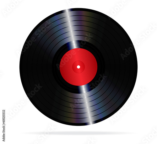 An illustration of a lp vinyl record.
