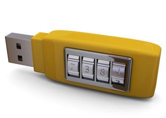 Secure Pendrive Concept - 3D