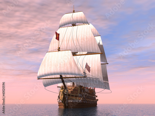 Ancient French Warship