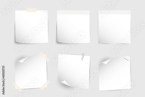 White office paper stikers for notes