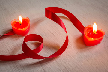 romantic candles,Valentine background.
