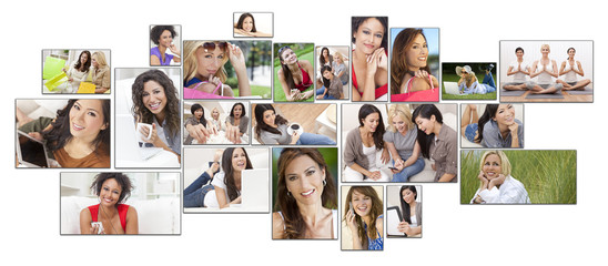 Mixed Race Female Women Healthy Lifestyle Montage