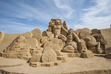Sand sculpture of hercules
