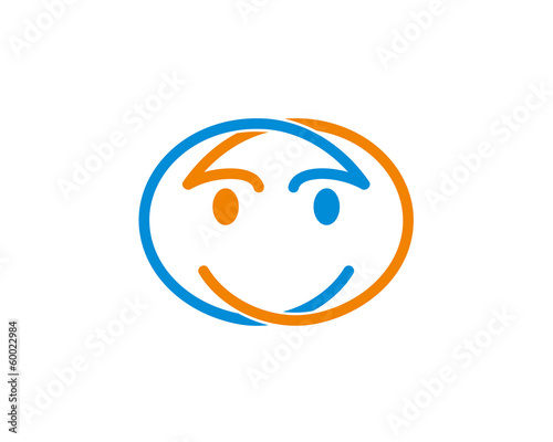 Smile face logo