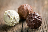 various chocolate balls