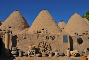 Ancient cone houses in Harran village, Urfa region, Turkey