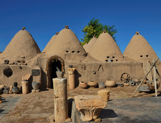 Traditional old cone houses in Harran village, Turkey