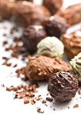 mix of chocolate truffles