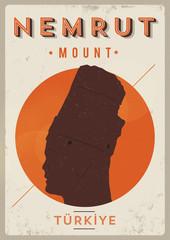 Vintage Nemrut Mountain Poster
