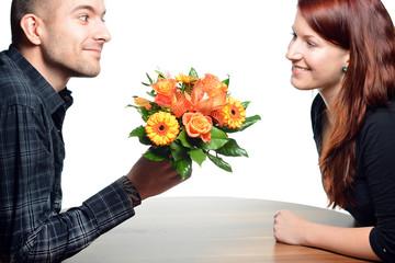 Blumengruss Valentinstag