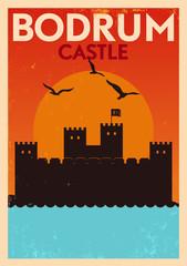 Vintage Bodrum Castle Poster