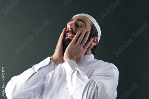 arabian muslim man praying