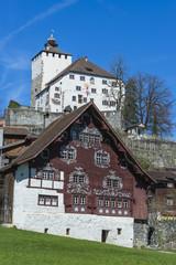 Buchs, Altstadt, Werdenberg, Schloss, Schweiz, Ostschweiz