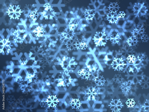 Beatiful snowflakes lens. Festive christmas background.