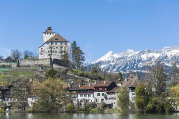 Buchs, Altstadt, Schloss, Werdenberg, Schweizer Alpen, Schweiz