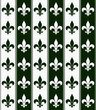 Hunter Green and White Fleur De Lis Textured Fabric Background