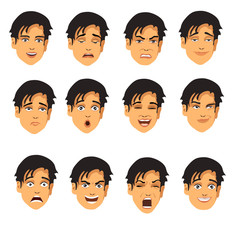 male face expressions