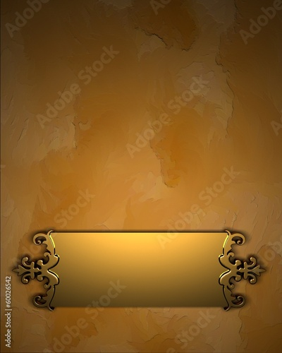 Yelow Background with Golden Band and pattern on edges