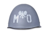 Polish MO (citizens militia) helmet isolated on white
