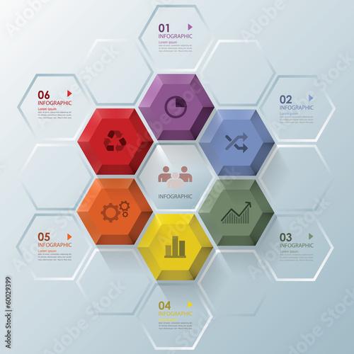 Modern Hexagon Business Infographic Design Template