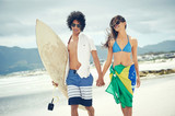 Brazilian beach couple