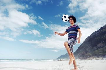 beach soccer man