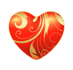 glossy scroll heart
