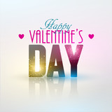 Bright Valentine`s day background