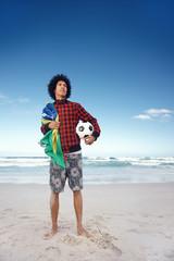 Brazillian soccer man