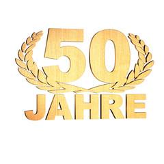 50 Jahre - Kranz -Holz