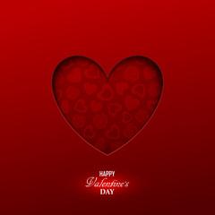 Bright Valentine`s day background