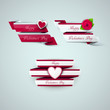 Bright Valentine`s day ribbons