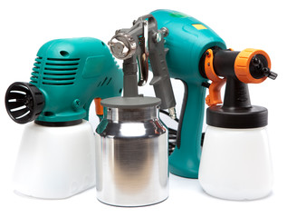 tool for a painting of surfaces- spray gun electrical