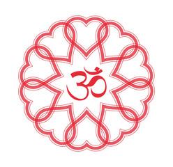 OM Mandala Heart Vector
