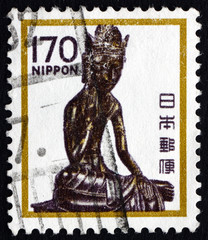 Postage stamp Japan 1980 Seated Maitreya, Horyuji Temple