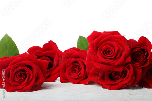Deurstickers Roses Beautiful red roses