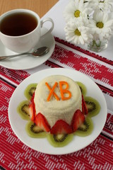 Easter cheese, traditional Russian cuisine