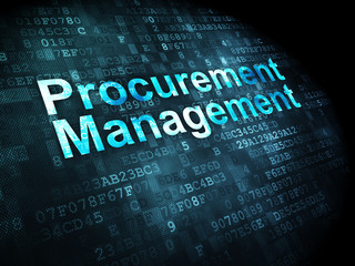 Business concept: Procurement Management on digital background