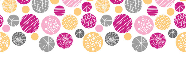 vector abstract textured bubbles horizontal border seamless