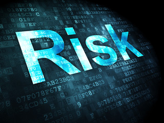 Business concept: Risk on digital background