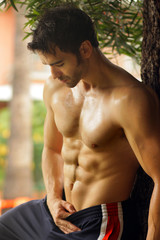 Shirtless hot guy