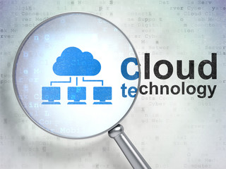 Cloud technology concept: Cloud Network and Cloud Technology