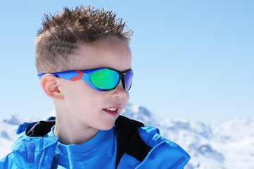 boy on mountain