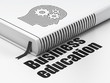 Education concept: book Head With Gears, Business Education on