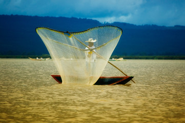 Pescadores en Pátzcuaro