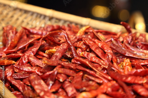 background of dry red chili pepper
