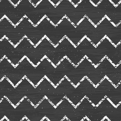 vector chalk chevron blackboard seamless pattern background