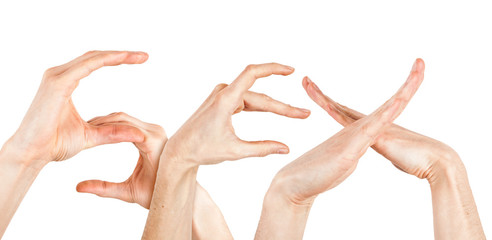 Sex Buchstaben Hände