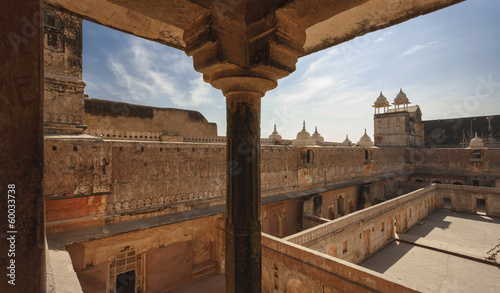 India, Rajasthan, Jaipur, view of the Amber Fort